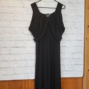 ANTTHONY Black Sleeveless Jumpsuit Draped Top